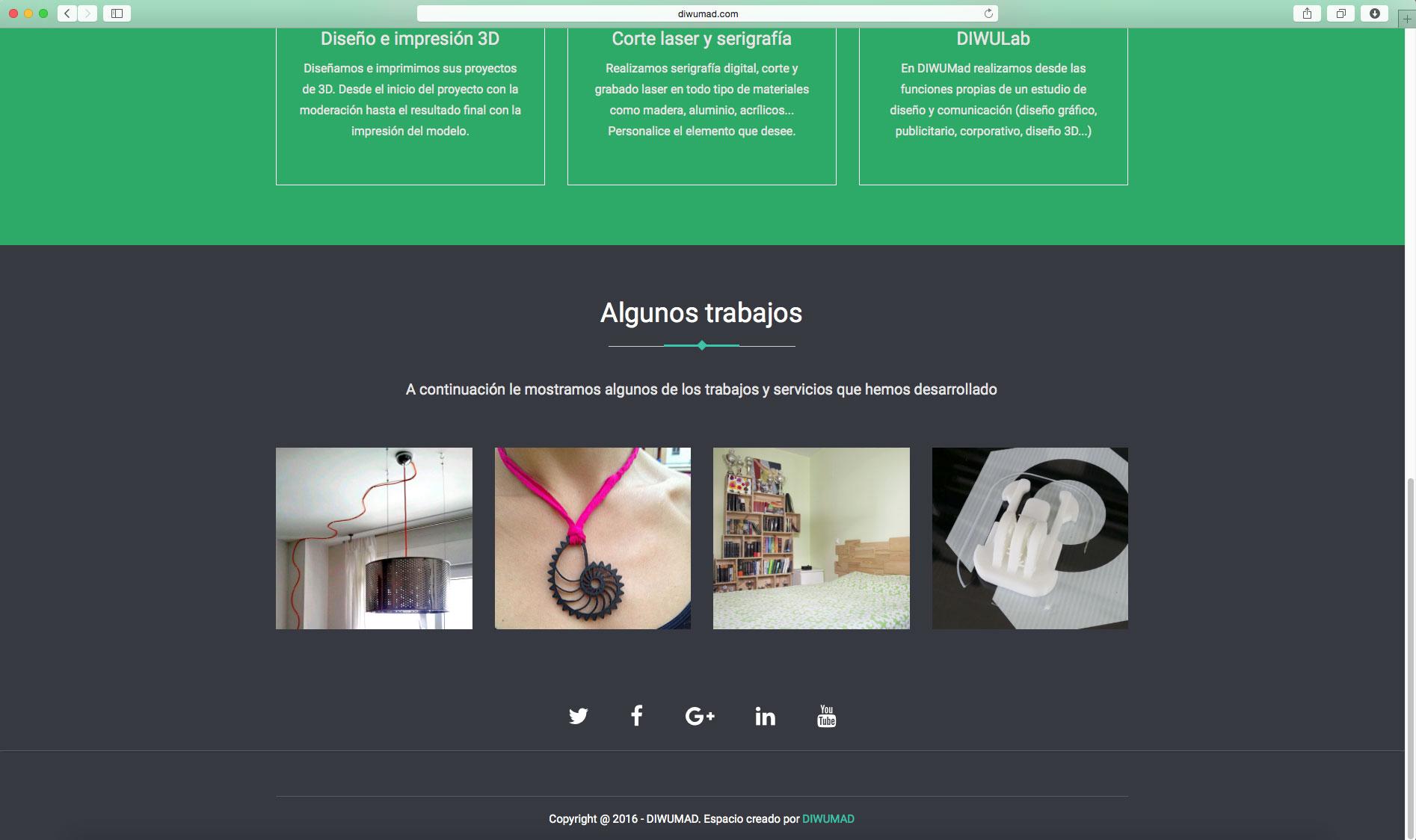 Diseño de página web para DIWUMad